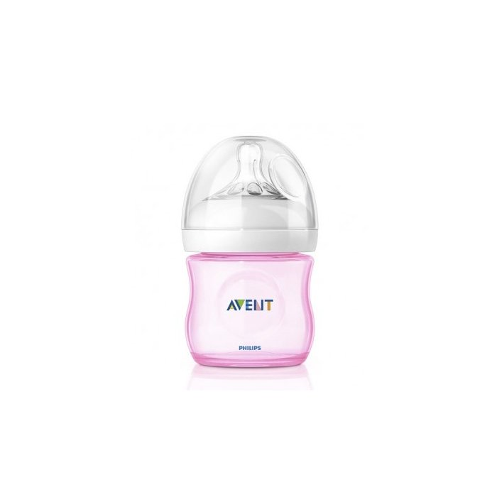 AVENT flasa 125ml Natural PP ruzova