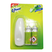 Q power minispray 2x15ml jablko+davk