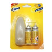 Q POWER minispray 2x15ml citron+davk
