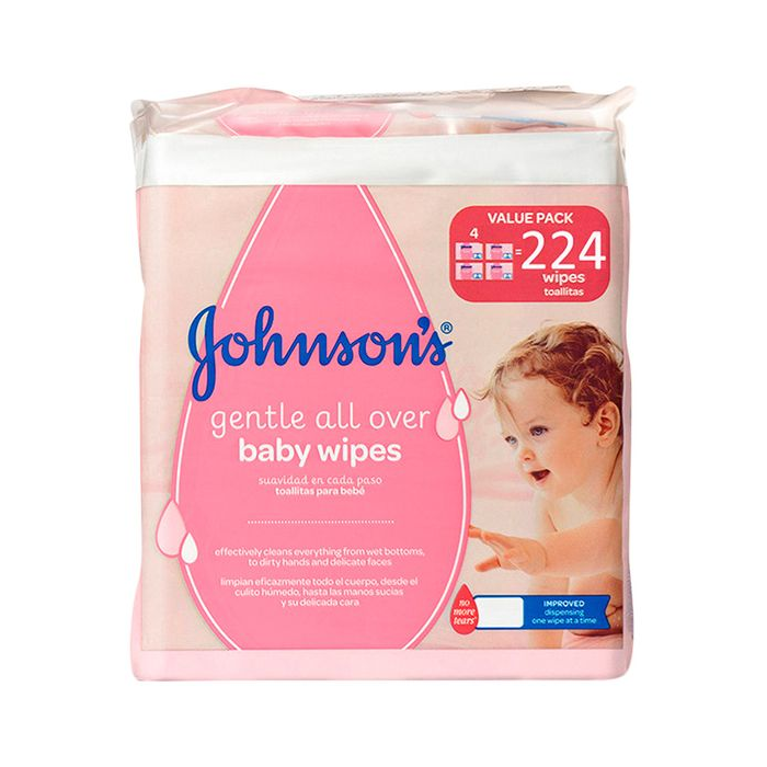 JOHNSONS baby vl.obrusky 224ks Gentl