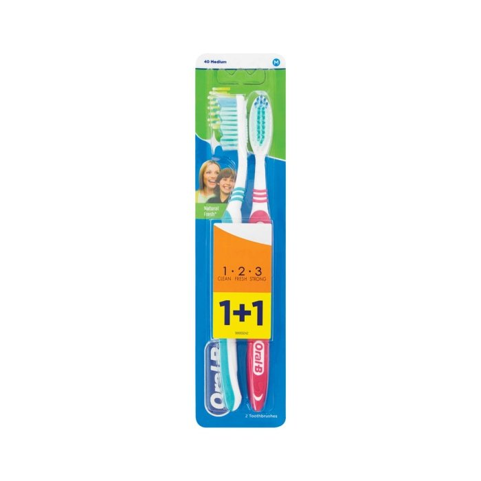 ORAL-B ZK Natural Fresh 1+1ks
