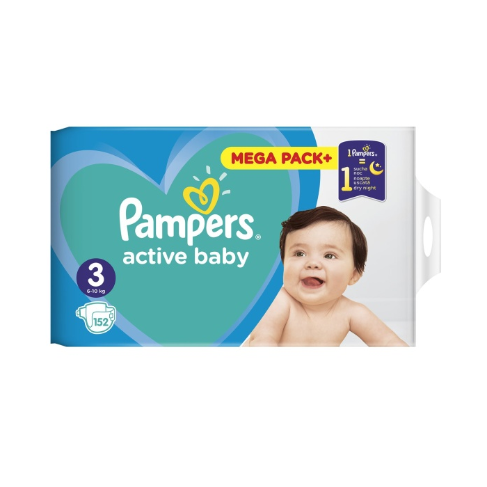 PAMPERS MPP 152ks Midi 3 6-10ks