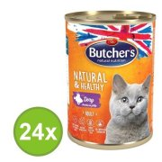 Butcher´s Natural & Healthy Cat, zverina v aspiku 24 x 400 g